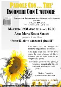 FORSE LA DOVE DANZANO I GIRASOLI, ANNA BOSELLI SANTONI